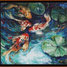 Cross Stitch Pattern- FISH POND * EMAIL delivery*