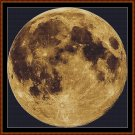 Cross Stitch Pattern- FULL MOON * EMAIL delivery*