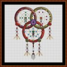 Cross Stitch Pattern- DREAMCATCHER - TRIQUETRA * EMAIL delivery*