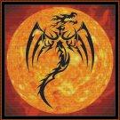 DRAGON SUN Cross Stitch Pattern