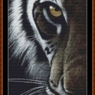 Cross Stitch Pattern- TIGER EYE  * EMAIL delivery*