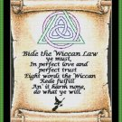 Cross Stitch Pattern- THE WICCAN REDE * EMAIL delivery*