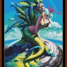 Cross Stitch Pattern- ALIEN MERMAID * EMAIL delivery*
