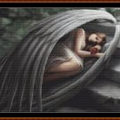 Cross Stitch Pattern- SLEEPING ANGEL (small) * EMAIL delivery*