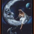 Cross Stitch Pattern- FAIRY MOON DOLPHIN * EMAIL delivery*
