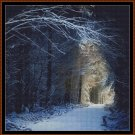 Cross Stitch Pattern- SNOW WALK * EMAIL delivery*