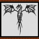 Cross Stitch Pattern- TRIBAL DESIGNS - DRAGON * EMAIL delivery*