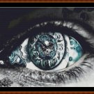 Cross Stitch Pattern- TIME'S EYE (small) * EMAIL delivery*