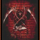 Cross Stitch Pattern- BOOK OF DEATH * EMAIL delivery*