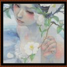 Cross Stitch Pattern- ORIENTAL PORTRAIT (small) * EMAIL delivery*