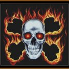 Cross Stitch Pattern- SKULL & CROSSBONES * EMAIL delivery*