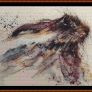 Cross Stitch Pattern- SPIRIT HARE (small) * EMAIL delivery*