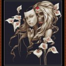 Cross Stitch Pattern- BEHIND THE MASK (small) * EMAIL delivery*