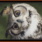 Cross Stitch Pattern- LONG EARED OWL - JUST THE HEAD * EMAIL delivery*