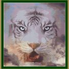 Cross Stitch Pattern- GHOST TIGER * EMAIL delivery*