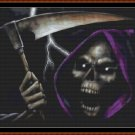 Cross Stitch Pattern- PURPLE GRIM * EMAIL delivery*