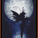 Cross Stitch Pattern- BLACK FAIRY SILHOUETTE * EMAIL delivery*