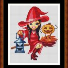 Cross Stitch Pattern- LIL WITCH * EMAIL delivery*