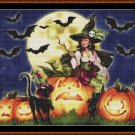 Cross Stitch Pattern- HALLOWEEN WITCH (small)* EMAIL delivery*