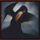 BLACK ANGEL Cross Stitch Pattern [PDF by email]