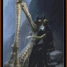 DEATH HARP Cross Stitch Pattern [PDF by email] {gothic fantasy}