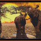 RHINO SUNSET Cross Stitch Pattern [PDF by email] (rhinosaurus)