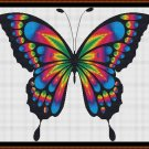 RAINBOW BUTTERFLY Cross Stitch Pattern [PDF by email]