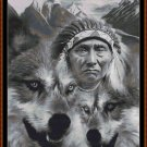 SPIRIT GUIDES 5 Cross Stitch Pattern [PDF by email] {native American wolf}