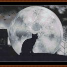 HALLOWEEN MOON Cross Stitch Pattern [PDF by email] {cat)