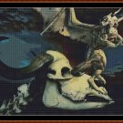 DEFEATED Cross Stitch Pattern [PDF by email] {dragon skull}