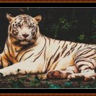 WHITE TIGER Cross Stitch Pattern [PDF by email] (car feline)