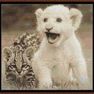 LITTLE FRIENDS Cross Stitch Pattern [PDF by email] (cat baby feline leopard lion)