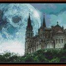 MOON SHINE Cross Stitch Pattern [PDF by email] (fantasy castle)