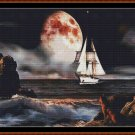 OUT TO SEA Cross Stitch Pattern [PDF by email] (fantasy ship boat)