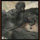 BABY'S KISS Cross Stitch Pattern [PDF by email] {gorilla}