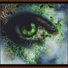 EMERALD EYE Cross Stitch Pattern [PDF by email] {fantasy}