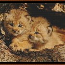 BROTHERLY LOVE Cross Stitch Pattern [PDF by email] {cat lynx}