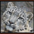 FIERCE CREATURES - SNOW LEOPARD Cross Stitch Pattern [PDF by email] {cat feline}