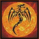 DRAGON SUN Cross Stitch Pattern [PDF by email]