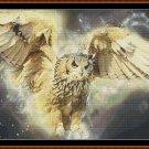 GLOWING FLIGHT Cross Stitch Pattern [PDF by email] {owl}