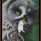 MY LUNCH Cross Stitch Pattern [PDF by email] {bird owl}