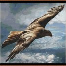 FLYING ABOVE Cross Stitch Pattern [PDF by email] {eagle}