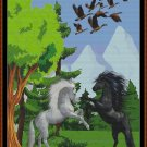 HORSE FOREST Cross Stitch Pattern [PDF by email] {fantasy}