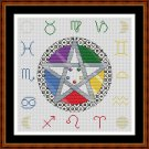 ASTRO PENTAGRAM Cross Stitch Pattern [PDF by email]