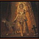 HALLOWEEN BRIDE Cross Stitch Pattern [PDF by email] (gothic fantasy)