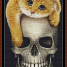FOREVER Cross Stitch Pattern [PDF by email] {cat skull}