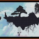 FLOATING ISLAND Cross Stitch Pattern [PDF by email] (fantasy)
