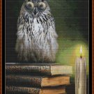 BOOK OWL Cross Stitch Pattern [PDF by email] {fantasy bird}