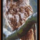 OWL PERCH Cross Stitch Pattern [PDF by email]