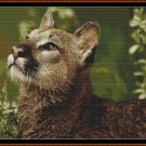ENGROSSED Cross Stitch Pattern [PDF by email] {cat lynx}